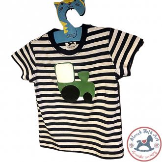 Detské pískacie tričko (zelený vláčik)