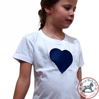 Detské písakajúce Tričko (biele s modrým srdiečkom)Detské písakajúce Tričko (biele s modrým srdiečkom)