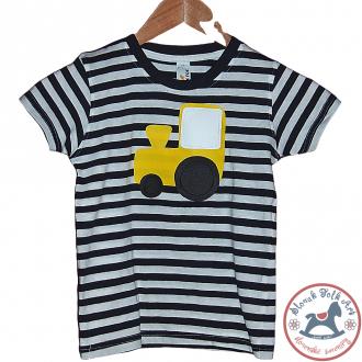 Detské pískacie tričko (žltý vláčik)