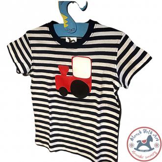 Detské pískacie tričko (červený vláčik)