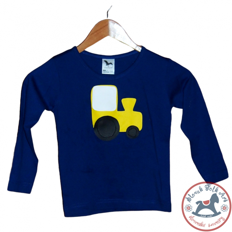Children's whistling t-shirt - blue