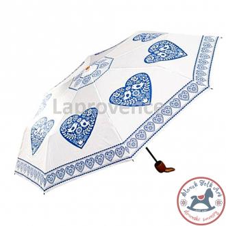Dáždnik s folklórnym motívom modrý