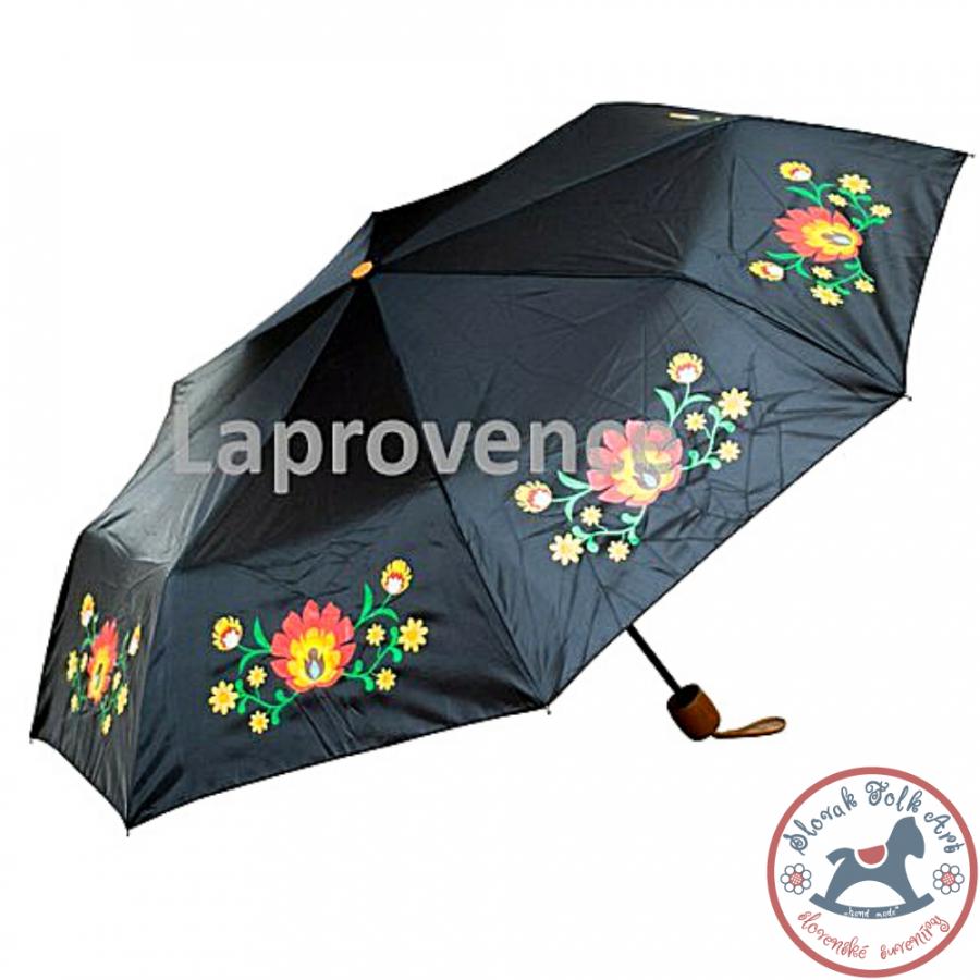 Dáždnik folk čierny
