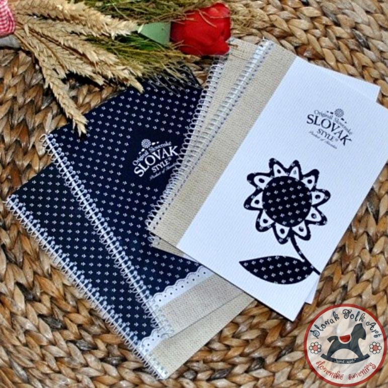 Zápisník  s motívom modrotlače