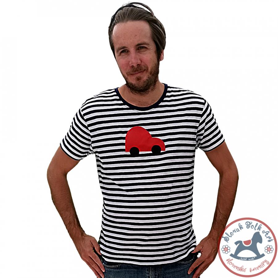 Men´s whistling T-shirt (red car)