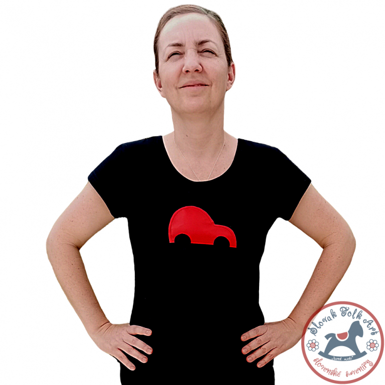 Women´s whistling T-shirt (red car)