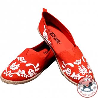 Dámske balerínky červené