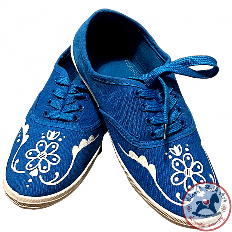 Women's folklore sneakers blue