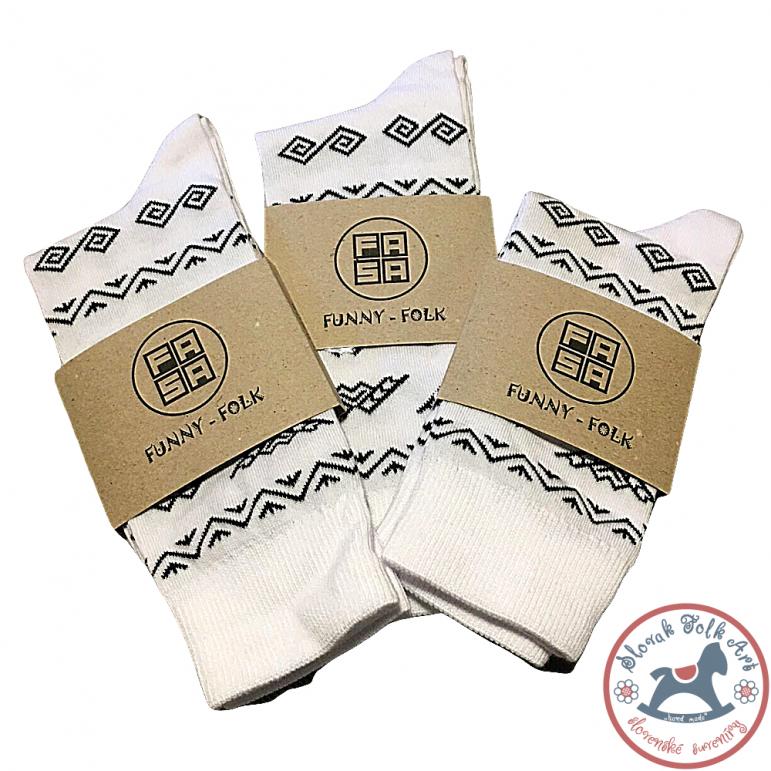 Folk socks Fasa (white)
