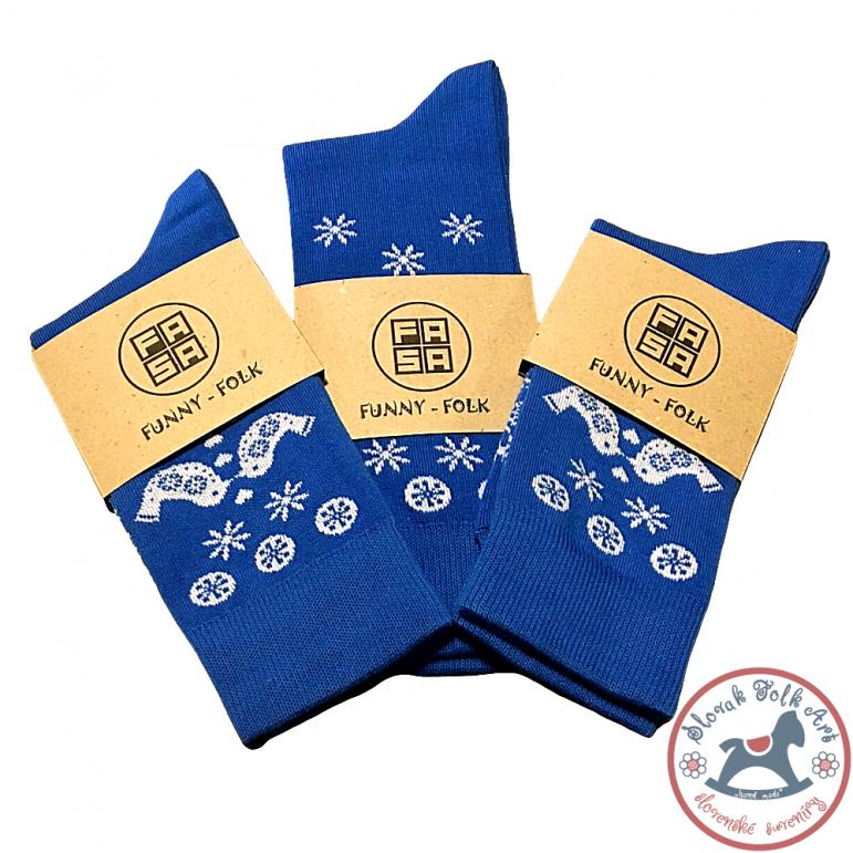 Folk socks Fasa (blue)