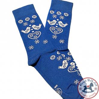 Folklórne ponožky Fasa (modré)