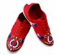 Dámske folklórne tenisky červené - pestrý vzor