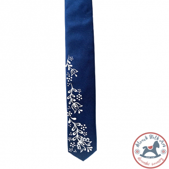 Folk tie Matej (blue)