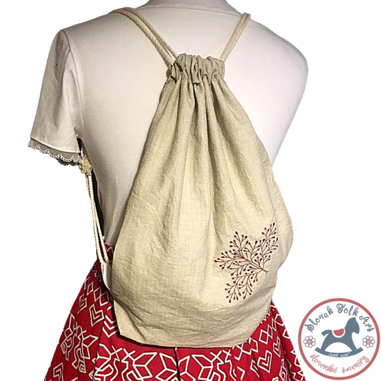 Folk bag - embroidered