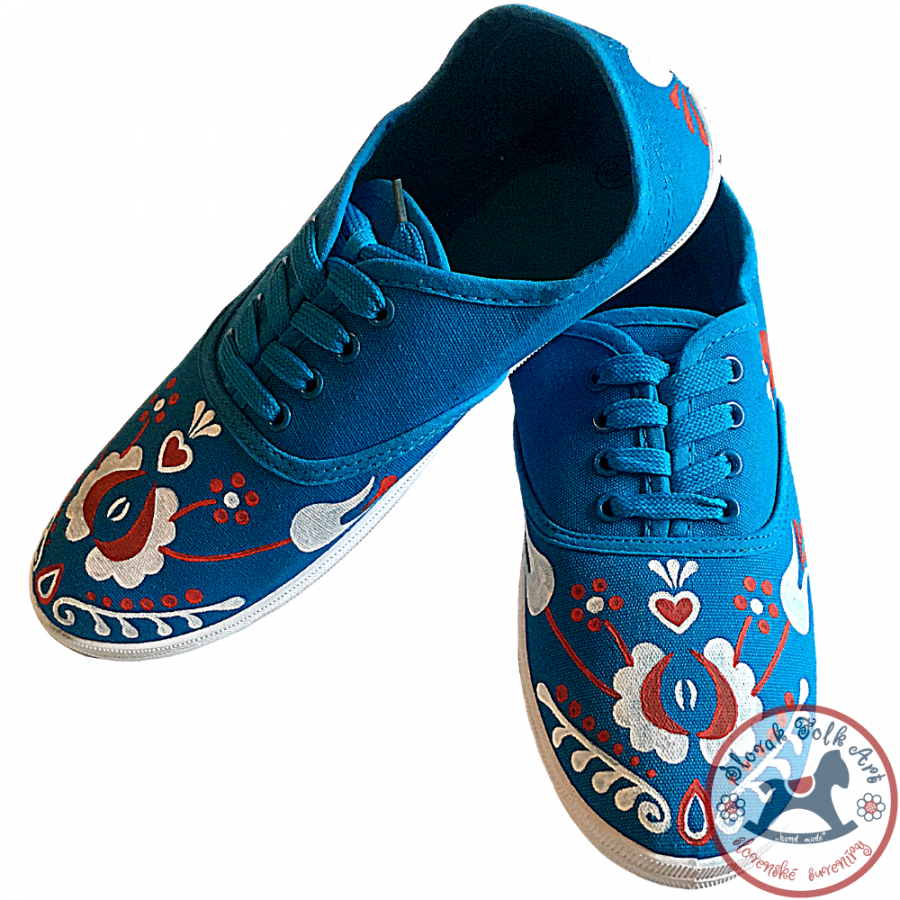 Women's folklore sneakers (blue)