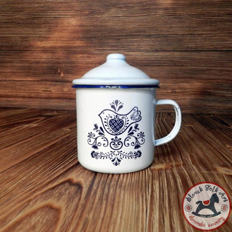 Tin mug Slovak Birds