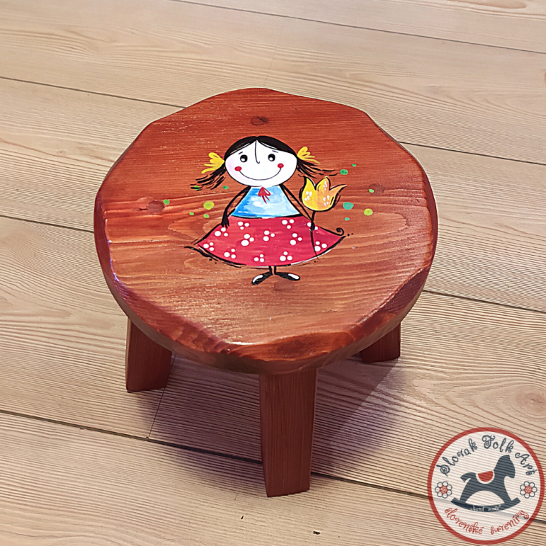Wooden chair Girl (brown)