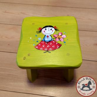 Wooden chair Girl (green)