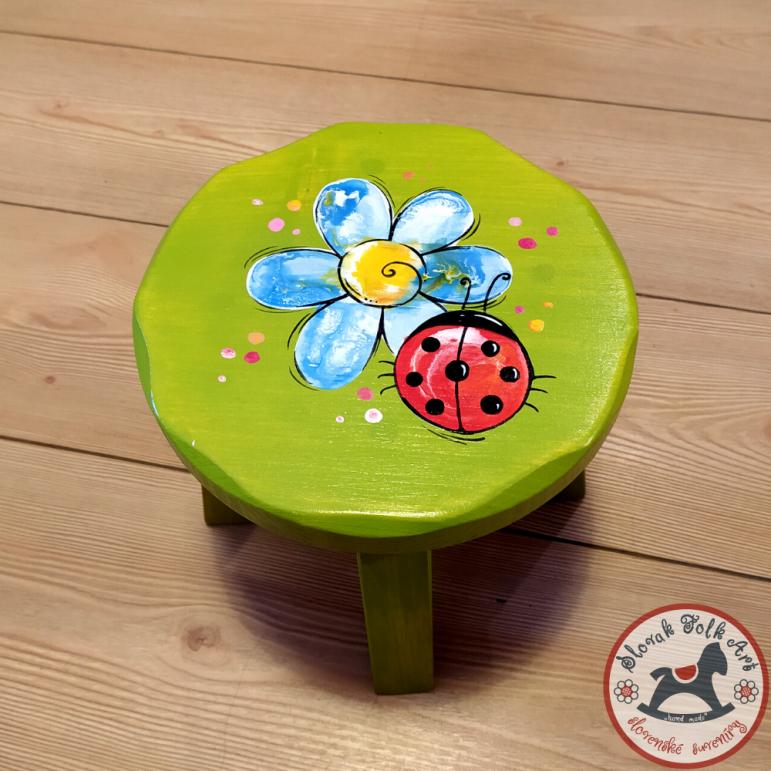 Wooden chair Flower (green)