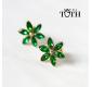 Earrings FOLKIE green flowers Bird