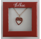 Pendant FOLKIE red heart...