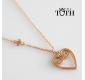 Pink-gold heart pendant Mileva