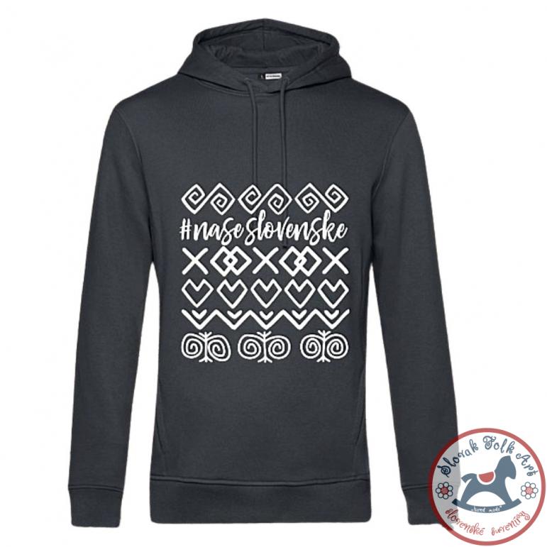 Mens hoodie Čičmany (grey)