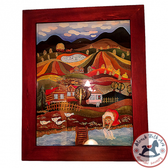 Maľba na sklo - LETO