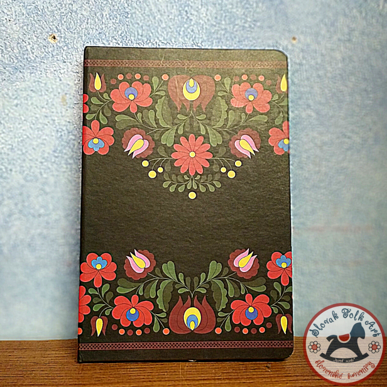 Notebook Black flowers