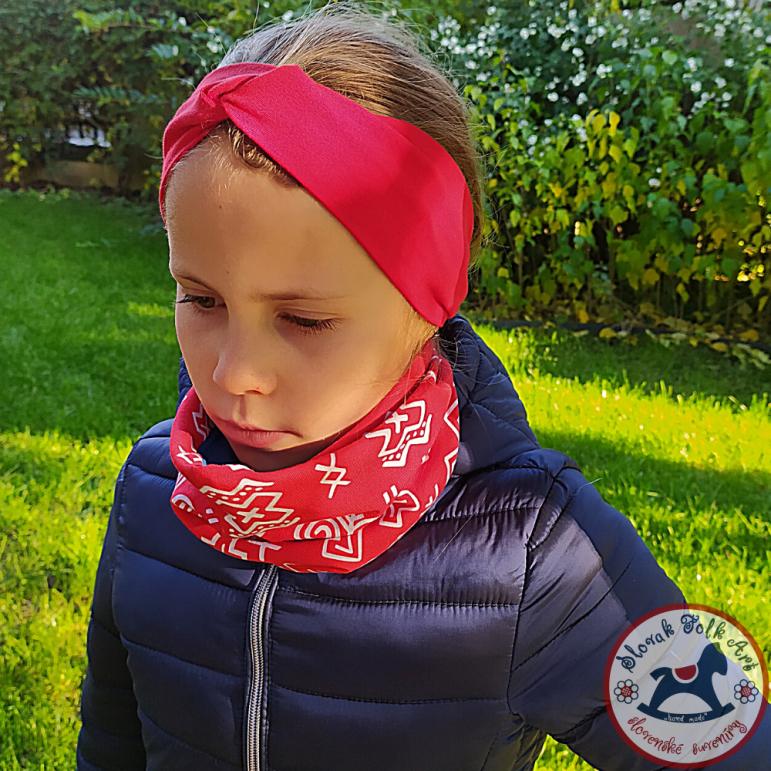 Headband červená