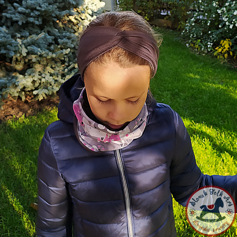 Headband gray-brown
