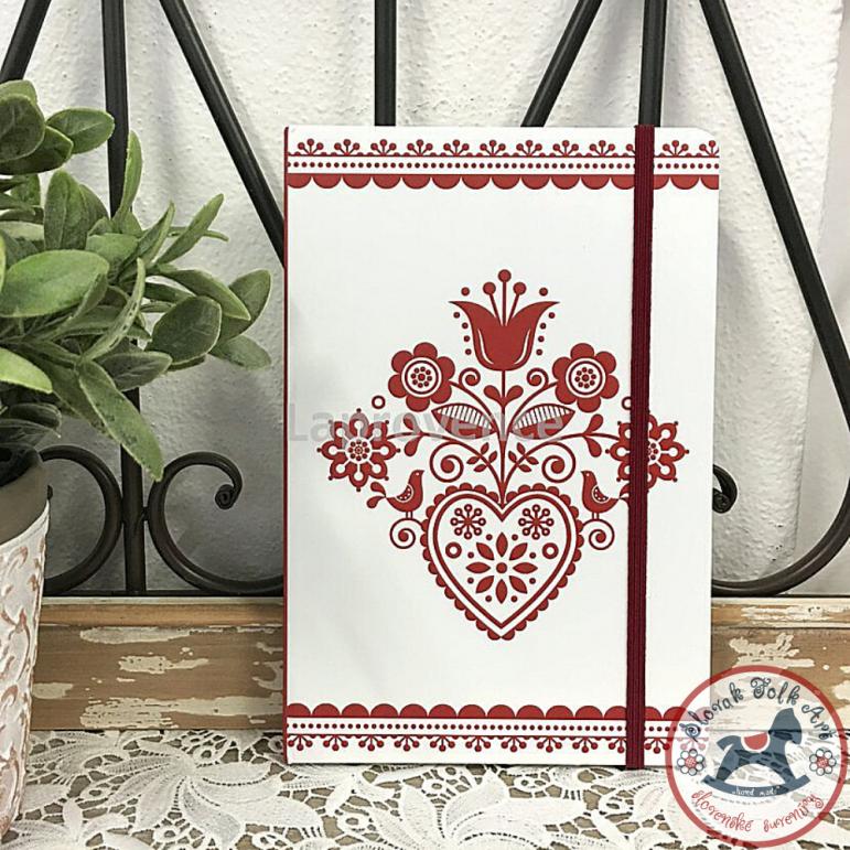Notebook Red folk heart