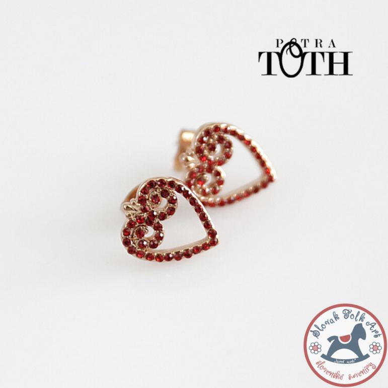 Mileva red heart earrings