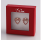 Mileva red heart earrings