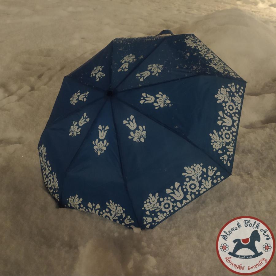 Dáždnik folk modrý