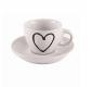 Heart mug with saucer 0.09l...