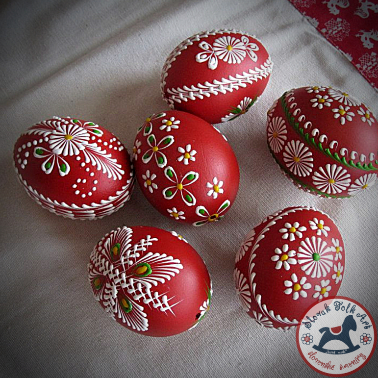Waxy Easter egg (red)