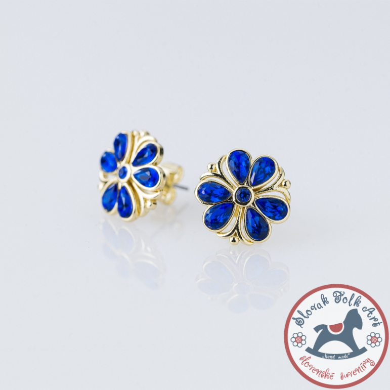Earrings FOLKIE Majolica flower