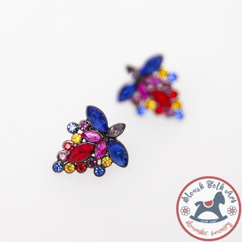 Earrings Folkie Solčianky lilac