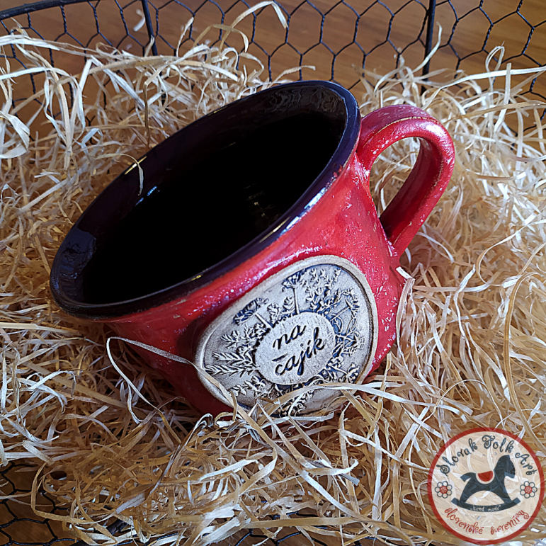 """Cup big """"for tea"""" (red)"""