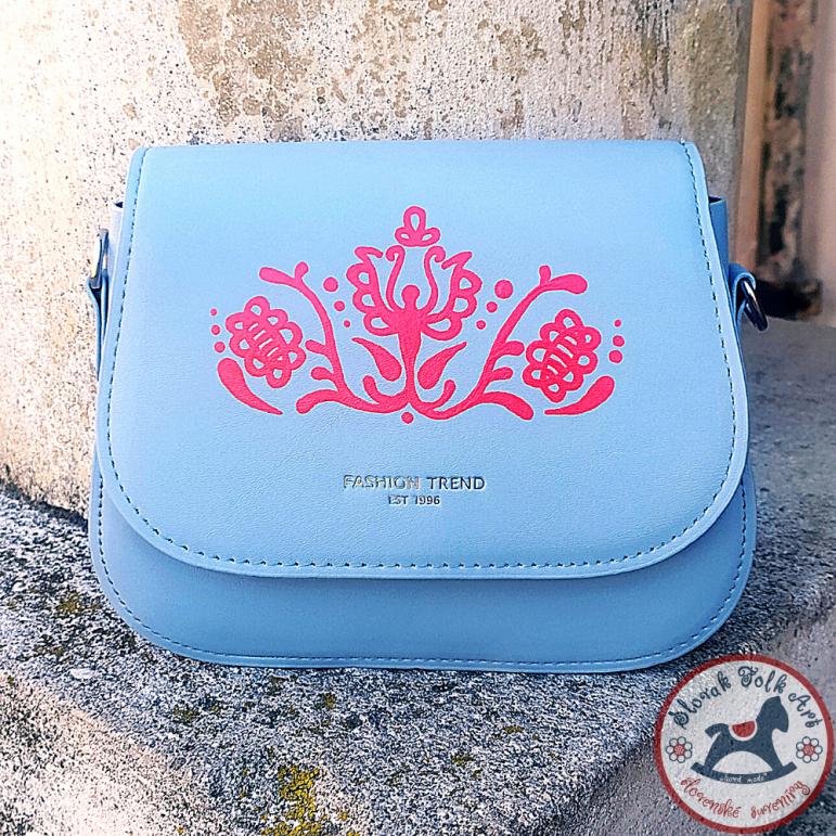 Handbag Folk Love (greyblue)
