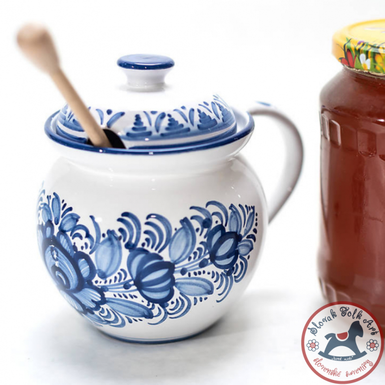 Honey bowl majolic blue
