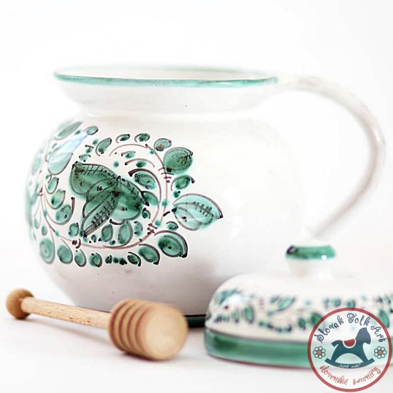 Honey bowl majolic green