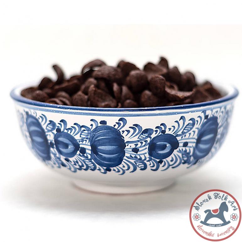 Blue majolica bowl