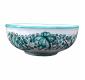 Green majolica bowl