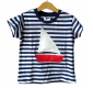 Detské pískacie tričko (loďka)