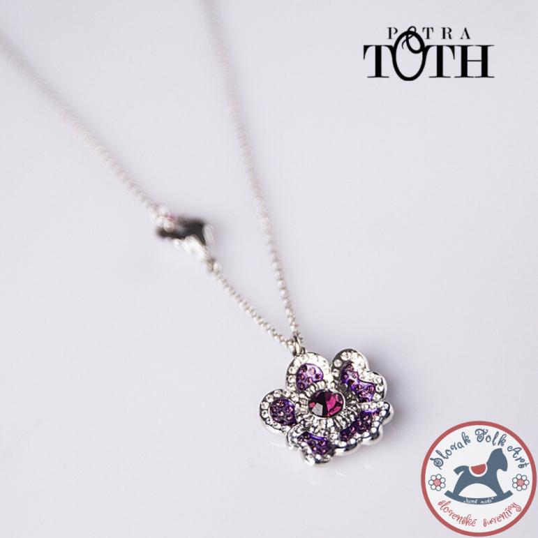 FOLKIE pendant with purple meadow flower chain