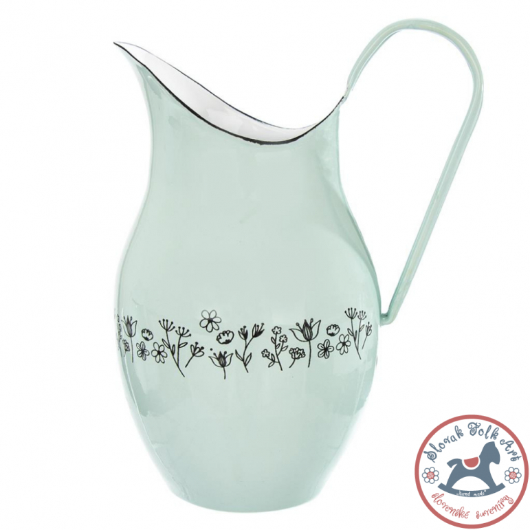 Enamel pitcher FLOWERS 2,5 l